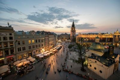 visit Krakow, Poland with door to door bus transfer